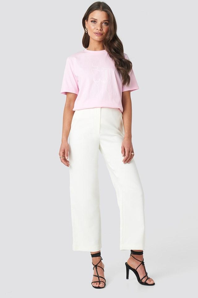Lady Print T-shirt Pink