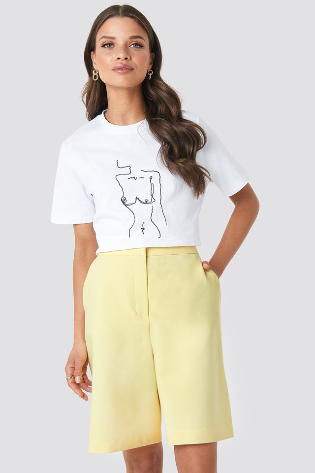 Mid Length Shorts Yellow