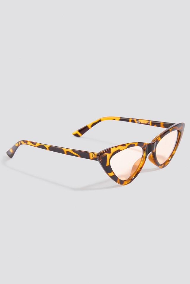Cateye Sunglasses Brown