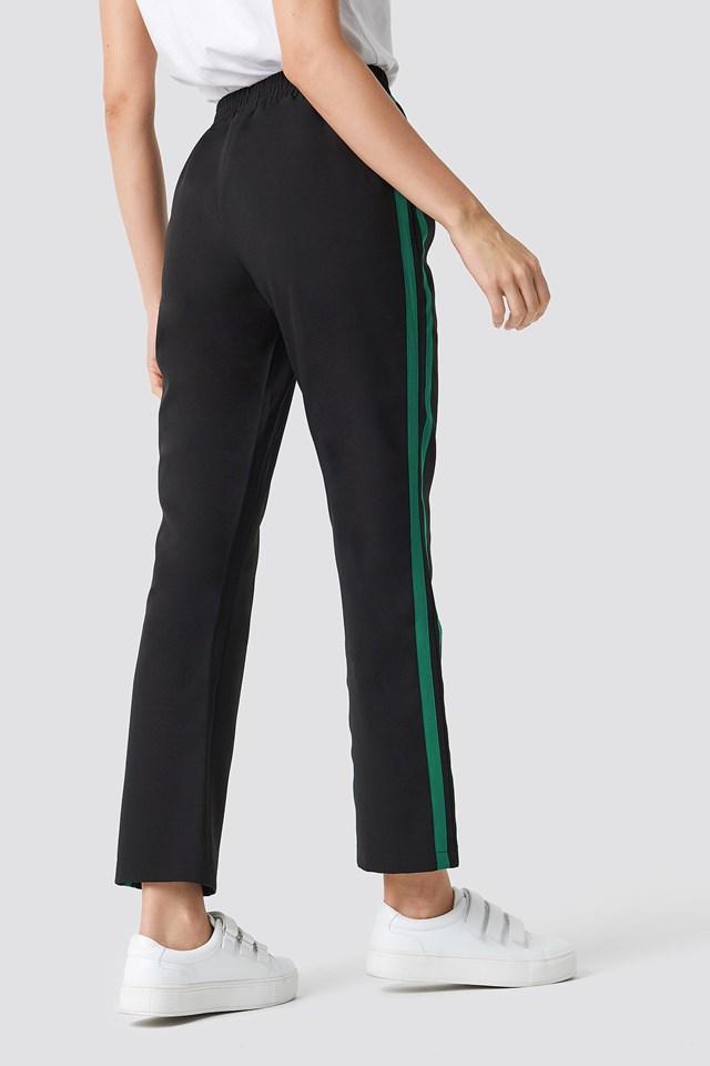 Panel Track Pants Black