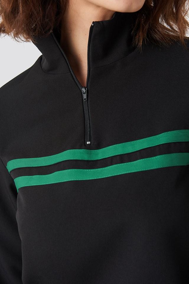 Panel Track Sweater Black