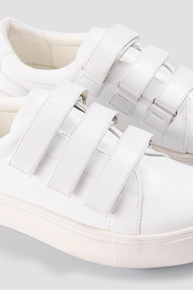 Patent Velcro Sneaker White