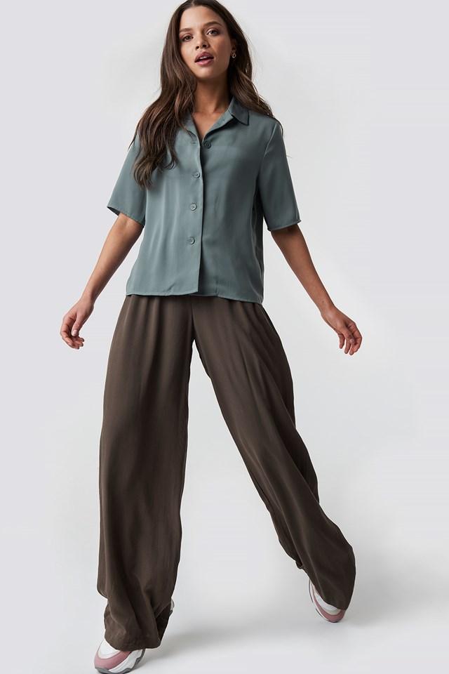 Put On Suit Pants Brown