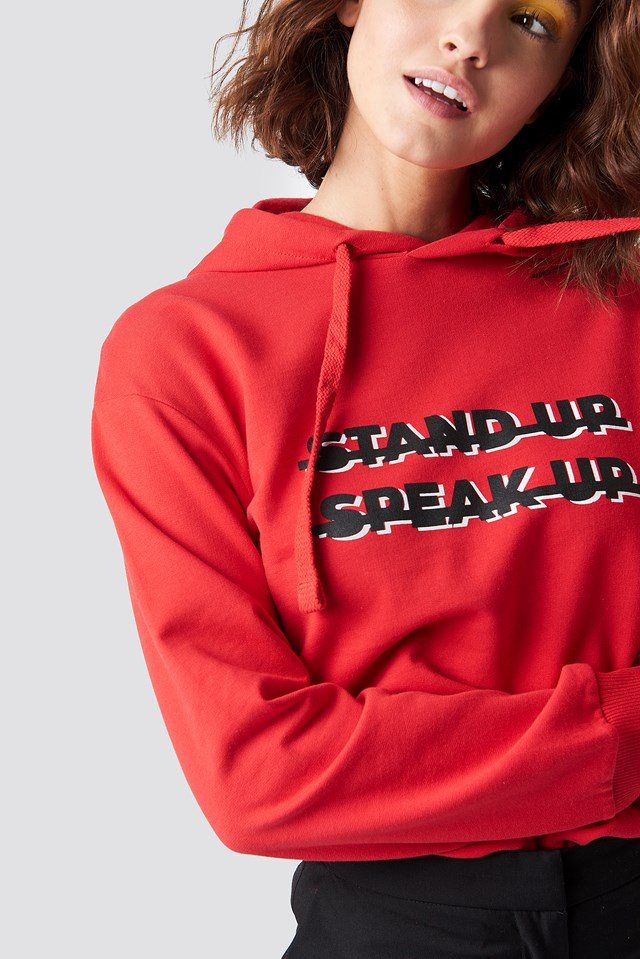 Stand Up Hoodie Red