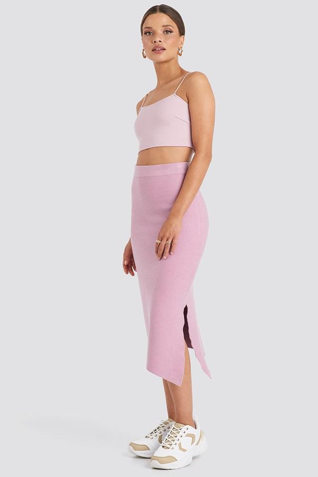 Midi Knitted Skirt Emilie Briting x NA-KD