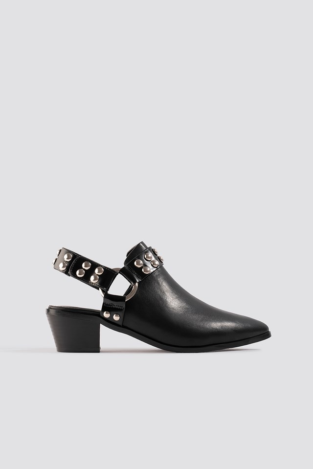 Cut Out Cowboy Ankle Boots NA-KD Shoes