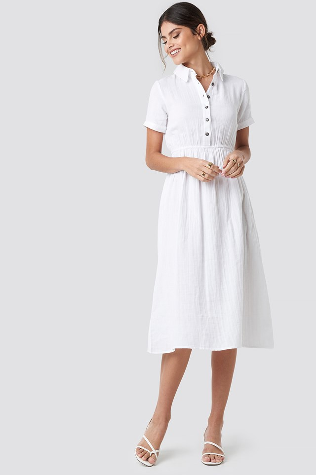 Light Cotton Midi Dress NA-KD Trend
