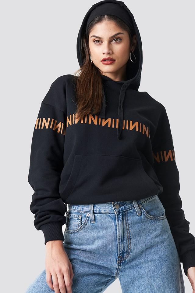 N Branded Hoodie Black