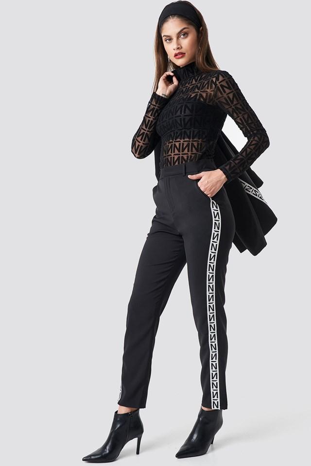 N Branded Suit Pants Black/White