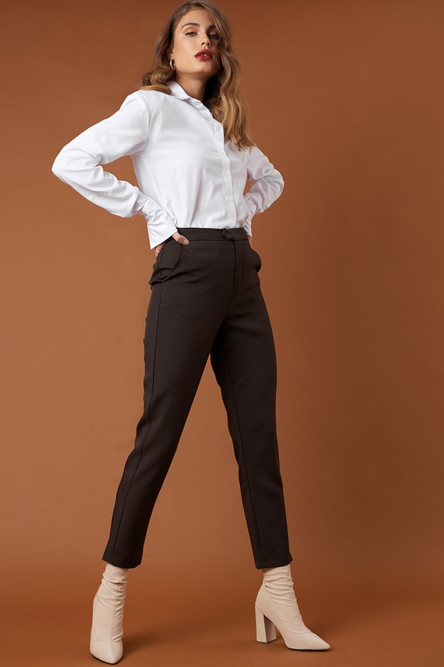 Straight Suit Pants NA-KD Classic