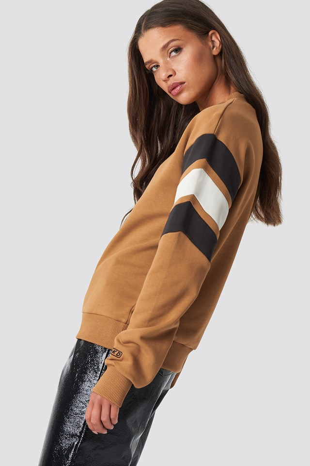 Blocked Bicep Sweatshirt Golden Beige