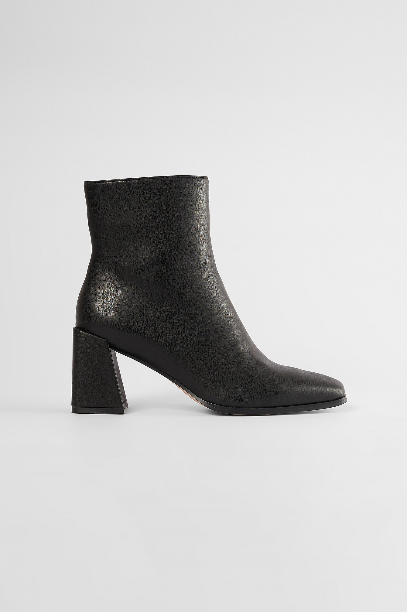 Black Square Toe Boots