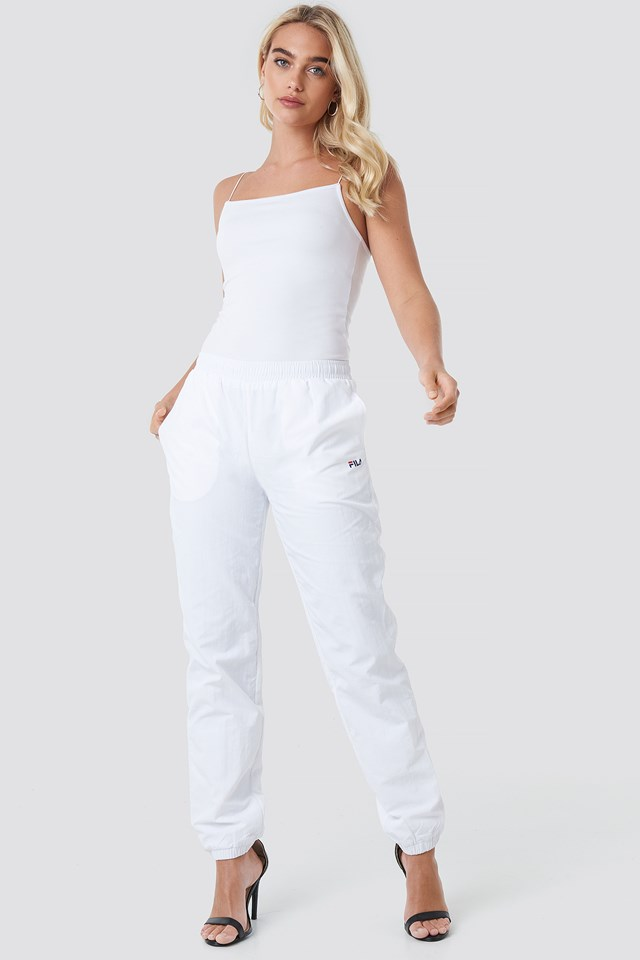Alma Woven Pants Bright White