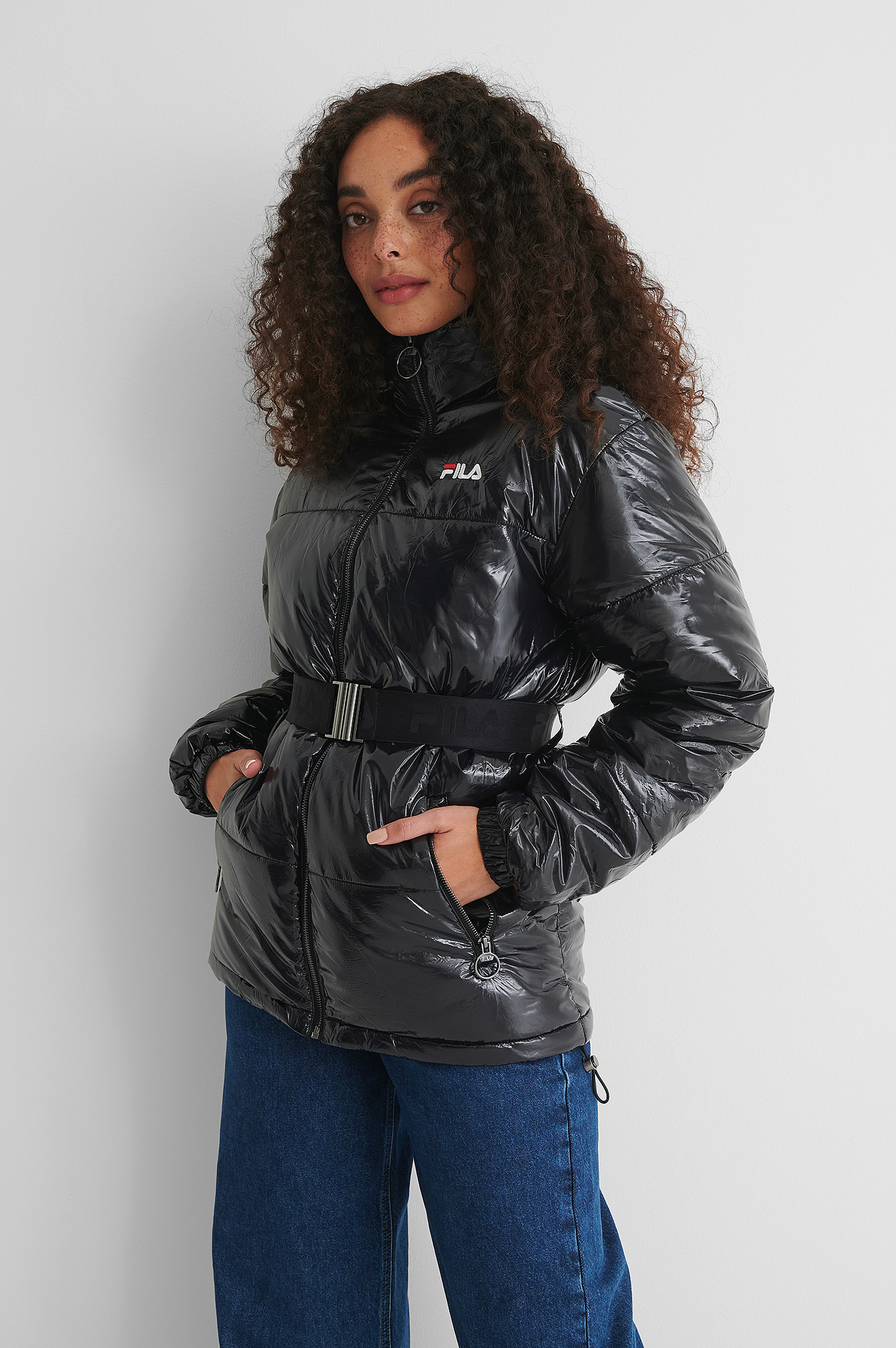 Black Avventura Puffy Jacket
