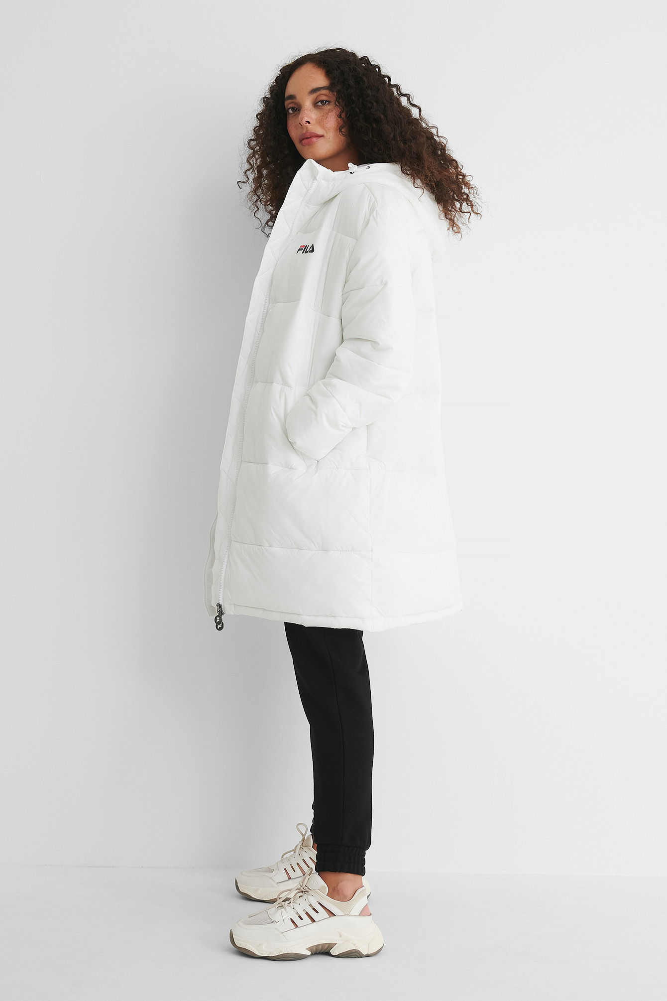 Bright White Bronwen Puff Hood Jacket