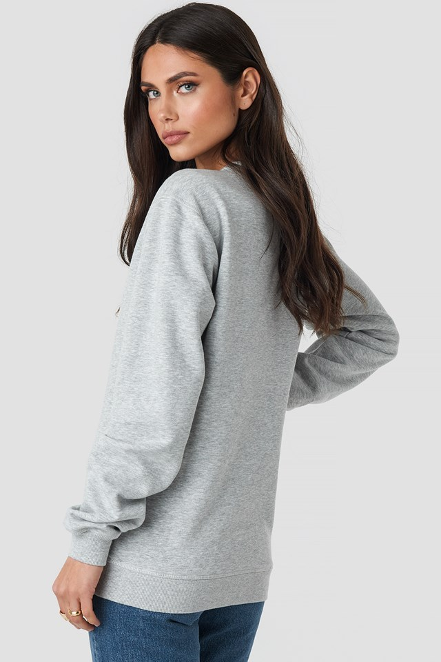 Classic Pure Crew Sweat Light Grey Melange