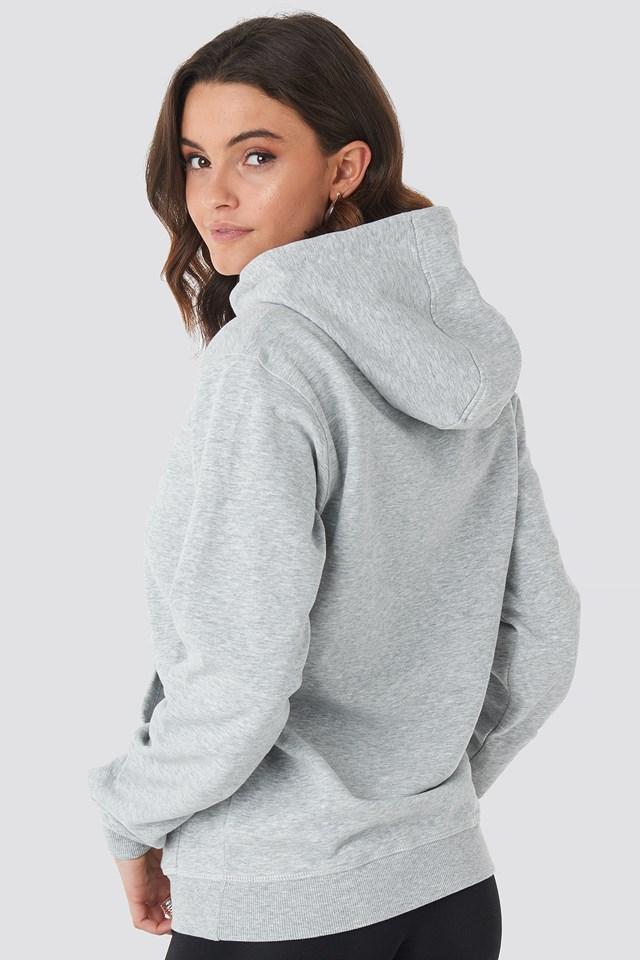 Classic Pure Hoody Kangaroo Light Grey Melange