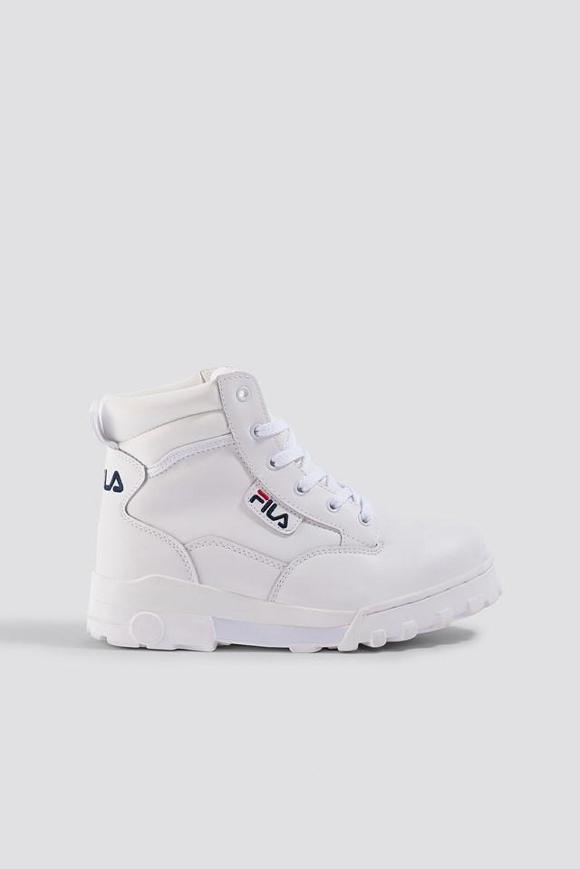 Grunge Mid Wmn Boot White