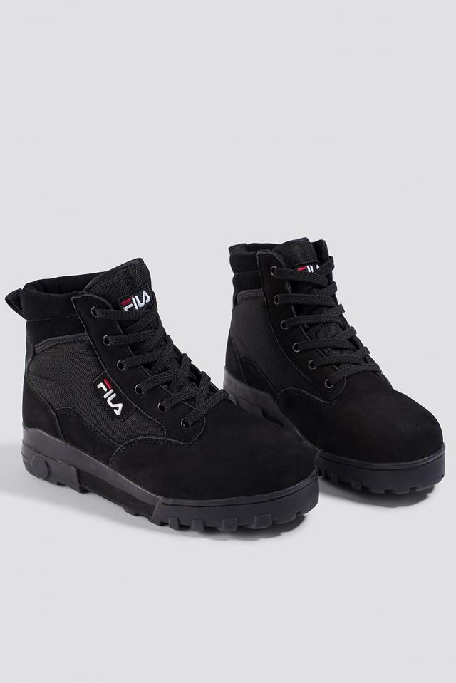 Grunge Mid Wmn Boot Black