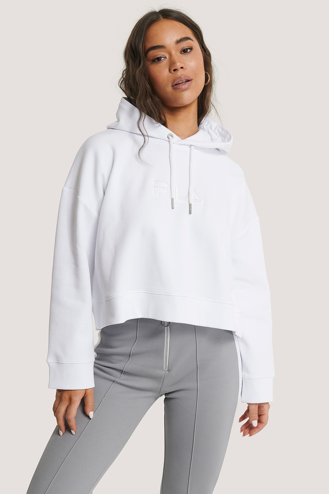 Bright White Maddy Oversized Hoody