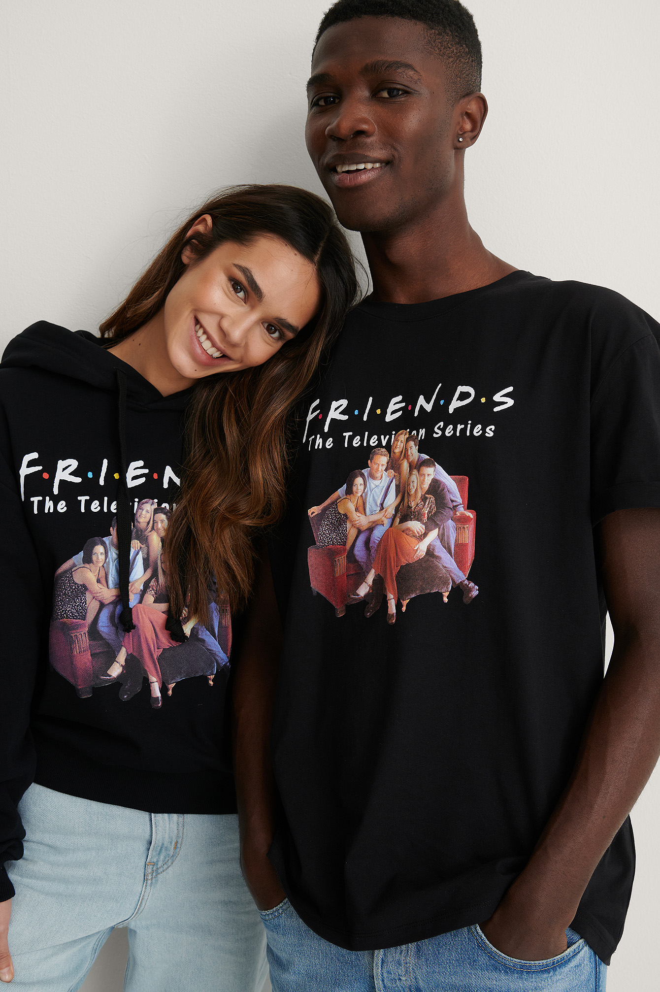 Black All Season Organic FRIENDS Unisex Print Tee