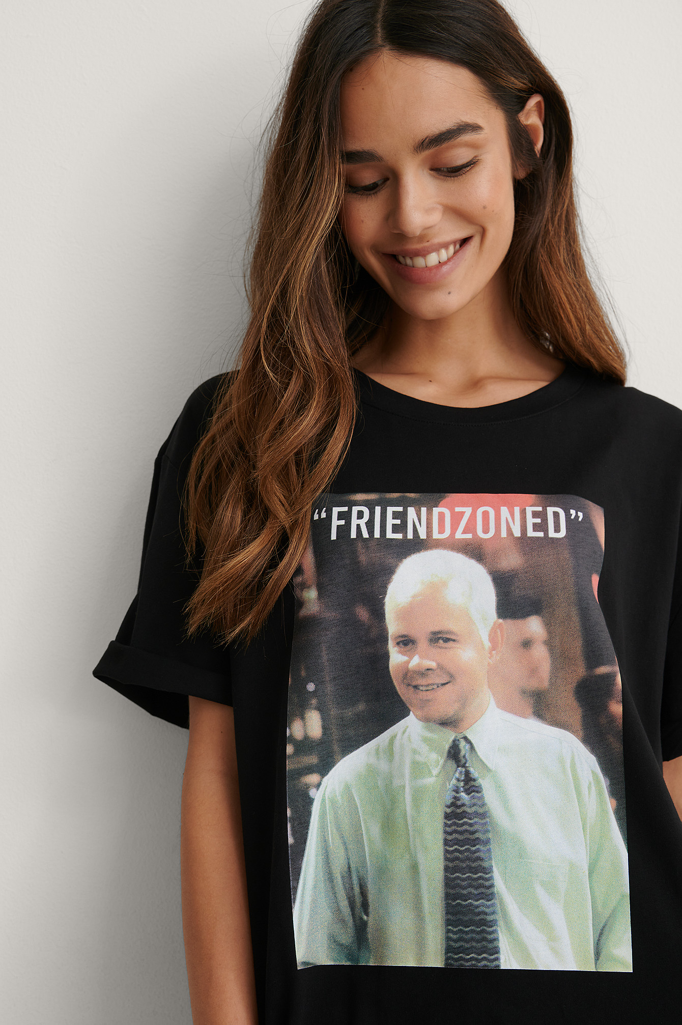 Black Print Friendzooned Organic FRIENDS Unisex Print Tee