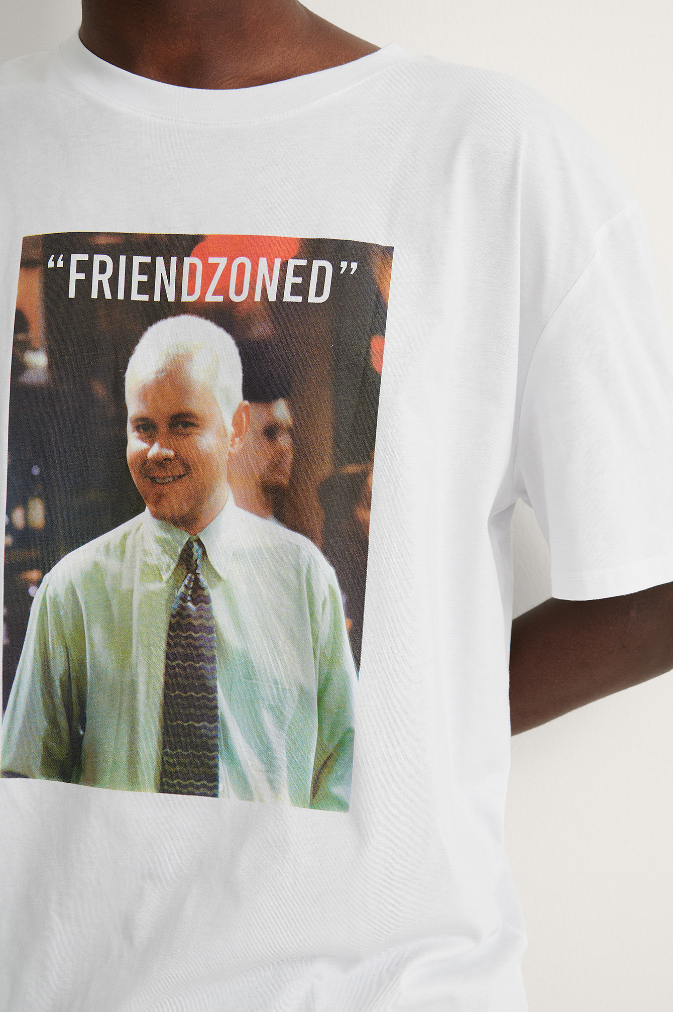 White Print Friendzooned FRIENDS Unisex Print Tee