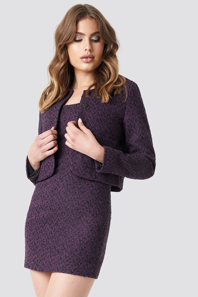 Boucle Jacket Purple