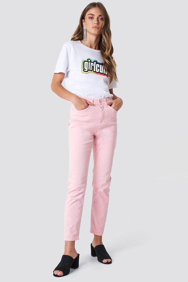 Pink Mom Jeans Unicorn