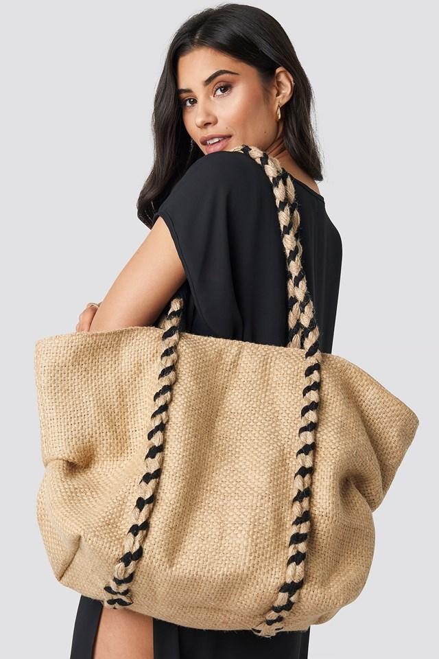 Braided Rope Beach Bag Nature