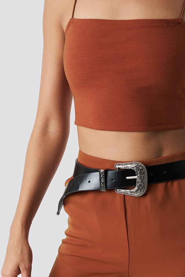 Cropped Straight Singlet Rust