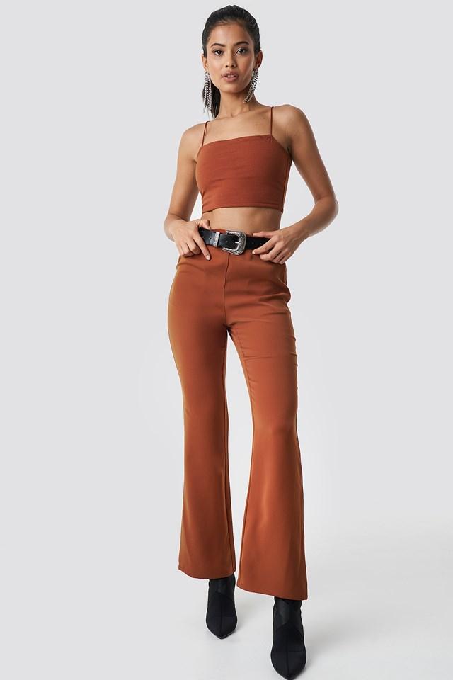 High Waist Bootcut Suit Pants Hannalicious x NA-KD