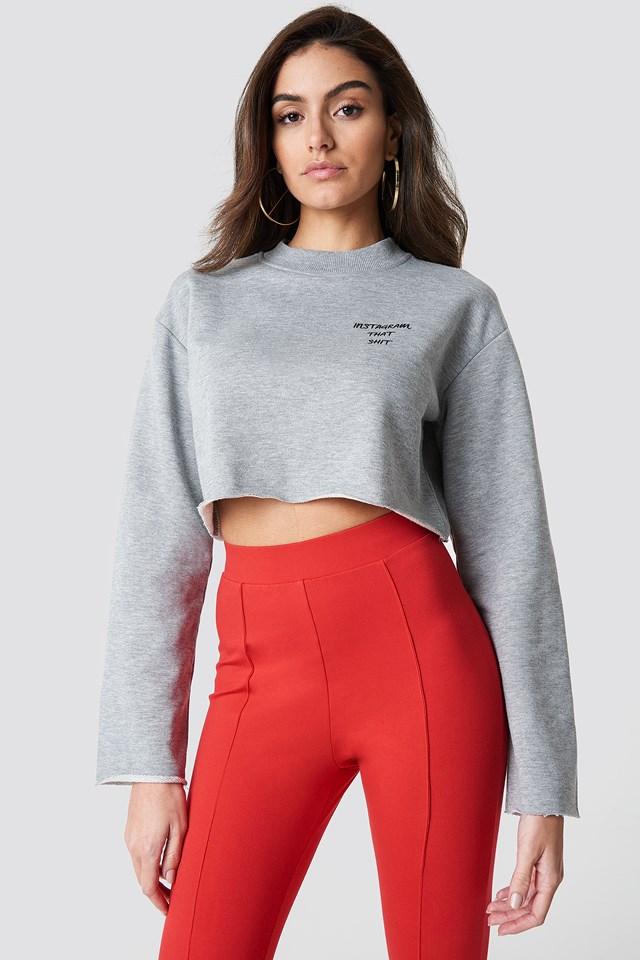 Instagram That Shit Sweater Grey Melange