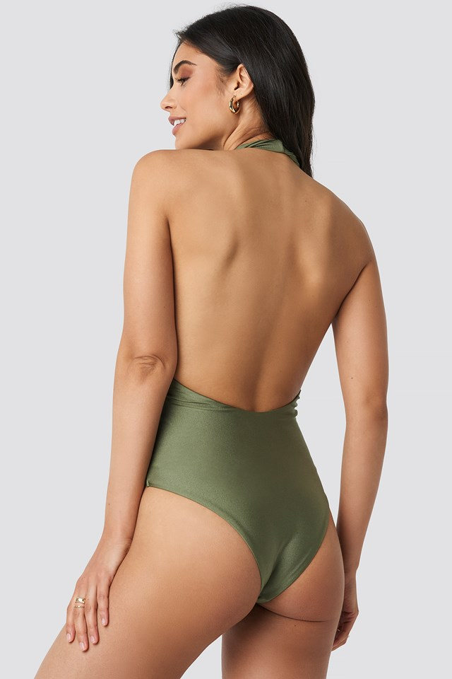 Twisted Swimsuit Army Green