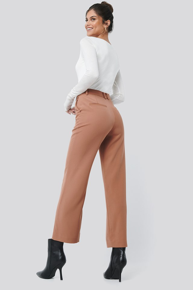 High Waist Suit Pants Rose