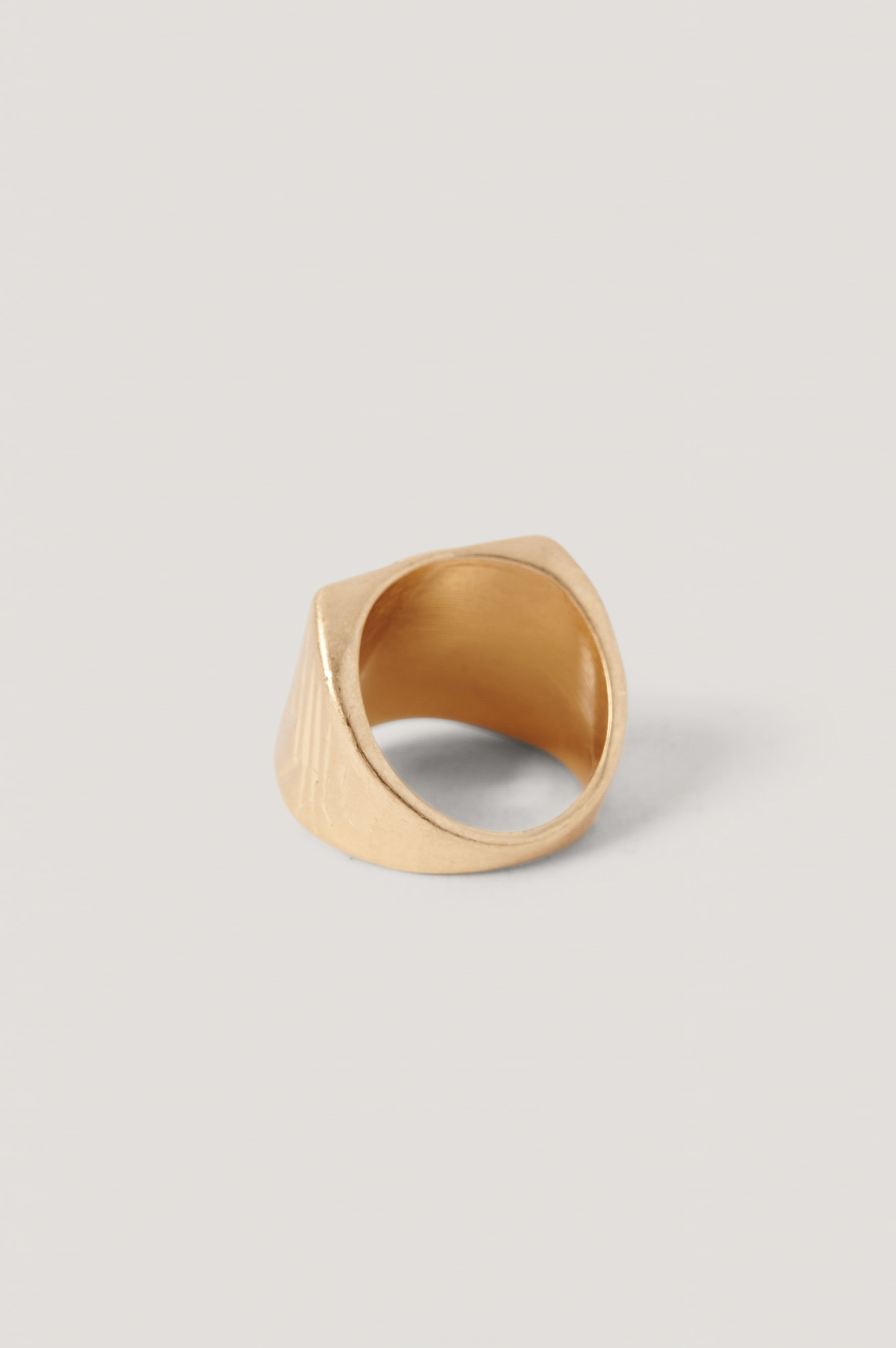Gold Brushed Gold Stone Ring
