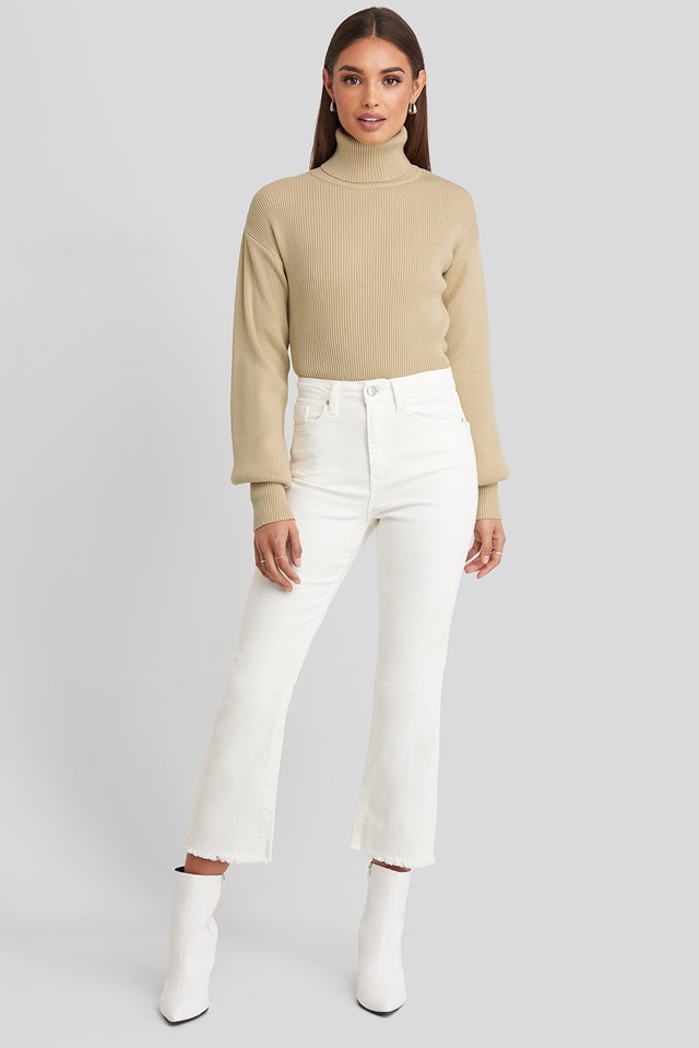 Cropped Flared Jeans Hoss x NA-KD