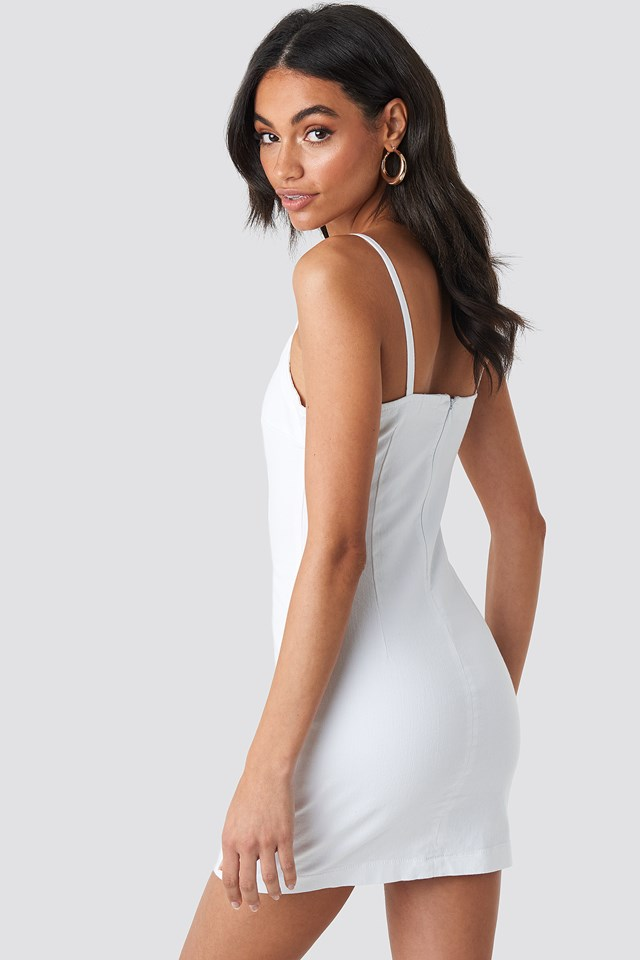 Denim Dress White