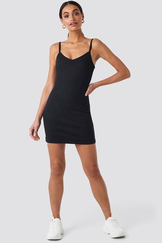 Denim Dress Washed Black