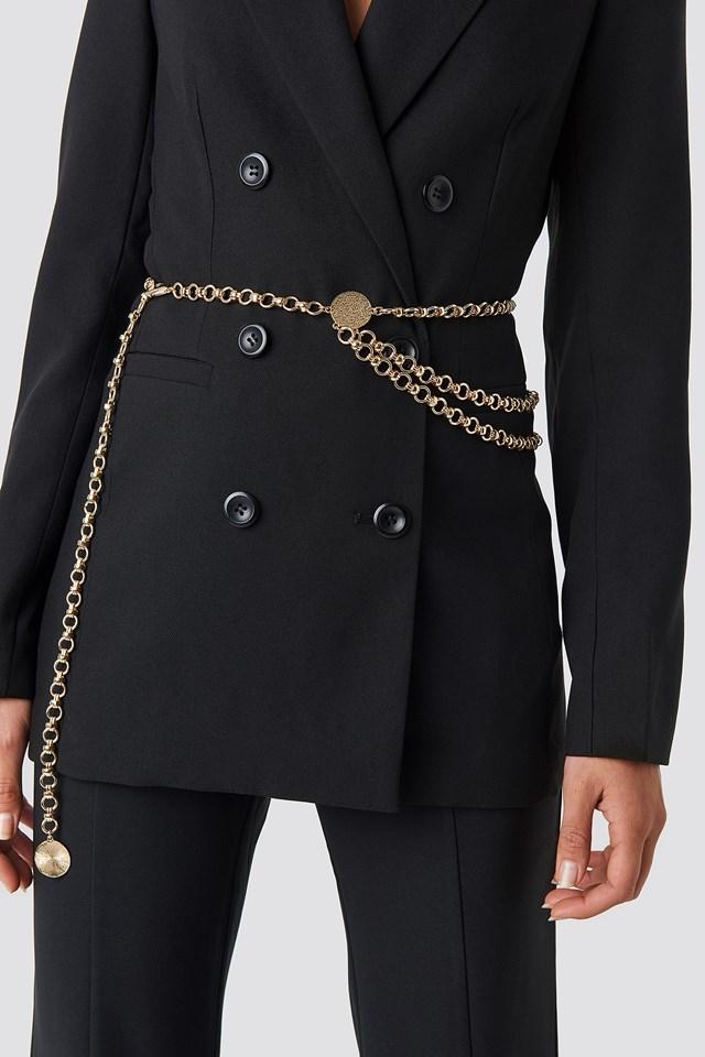 Hanging Chain Belt Gold