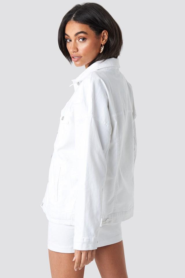 Oversized Denim Jacket White