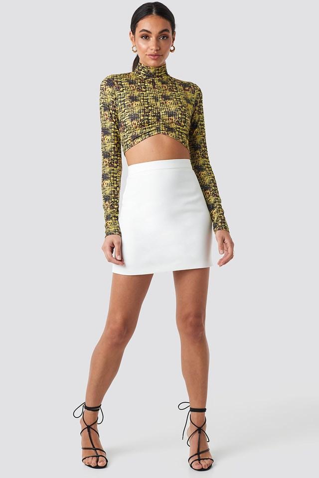Tailored Mini Skirt Off White