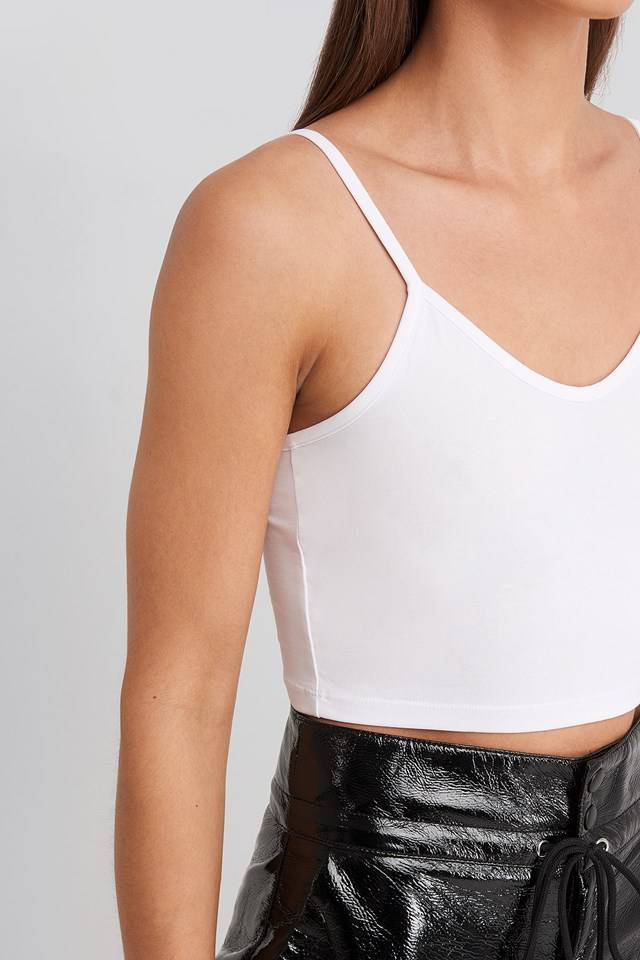 Thin Strap Singlet White