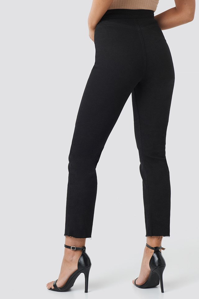 Highwaist Straight Leg Jeans Black
