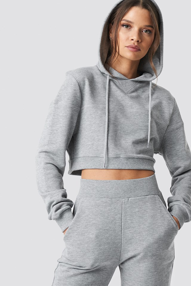 Cropped Hoodie Grey