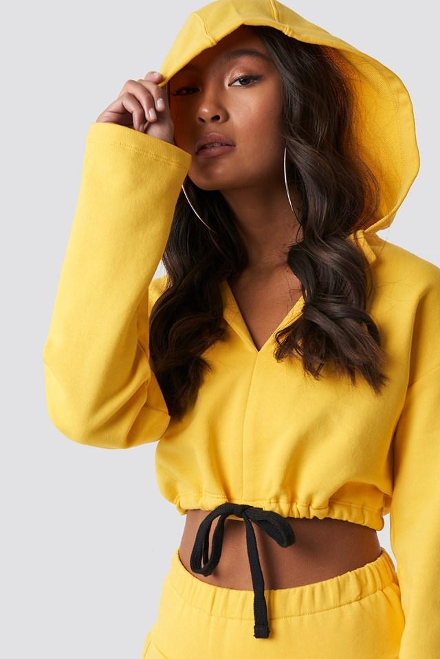 Drawstring Hoodie Yellow