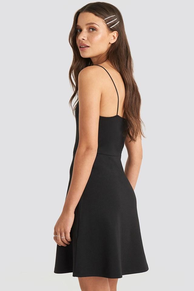 Mini Spagetti Strap Dress Black