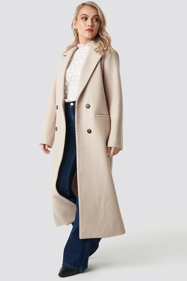 Classic Maxi Coat Kae Sutherland x NA-KD