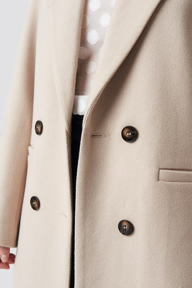 Classic Maxi Coat Light Beige