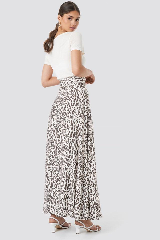 Leopard Maxi Skirt Leopard